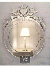 "Venice Silver Venetian Round Vintage Wall Mirror 28"" x 22"" (70cm x 56cm)"