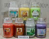"""YANKEE CANDLE """"YOU CHOOSE"""" 22oz Large Jar Tumbler Med Scented Fall NEW HTF"""