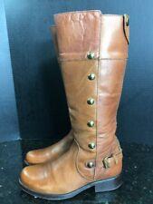 STEVE MADDEN Olster Tan Tall  zip Womens Sz 7 Knee High Riding Boot - B3