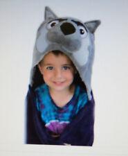 "Washington Huskies Huggable Hooded Blanket Mascot -Purple 47"" x 36"" Soft Nwt"