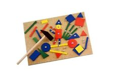 67PCS Hammer and Nails game Art Tap Tap Pins Wooden Shape Hammering Creative Set