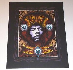 Michael Everett Jimi Hendrix Moth Rick Griffin Eyeball Original Art Poster Print
