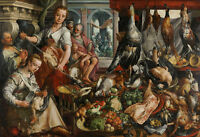 The Well Stocked Kitchen by Joachim Beuckelaer 75cm x 51.5cm Canvas Print