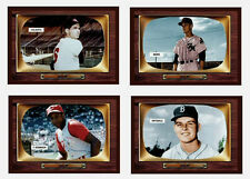 Lot of 4 Color TV minors 1955 Future Stars: Maris, Colavito, Robinson, Drysdale