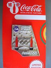 COCA COLA PIN BADGE - LONDON 2012 - DAY 14 LONDON AT NIGHT - MOC