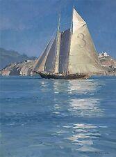 """Pilot Schooner Gracie S., Becalmed Off Alcatraz"" Christopher Blossom Canvas Art"