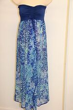 New Raviya Swimsuit Cover Up Maxi Dress Size L Royal Blue Strapless