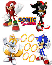 Sonic The Hedgehog Tails Shadow and Knuckles Removable Wall Decal Stickers Set