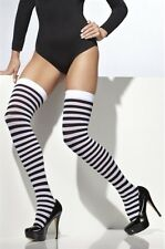 Striped Stockings White And Black New Adult Halloween Cristmas Womens One Size