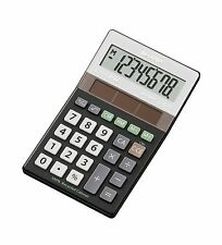 Sharp EL-R277 BBK Eco-Friendly Solar Desk Calculator  Made from Recycled Plastic