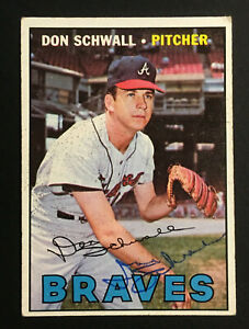 Don Schwall Braves signed 1967 Topps baseball card #267 Auto Autograph 3