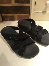 Fit Flops Black Sparkly Strappy Size 5 Vgc