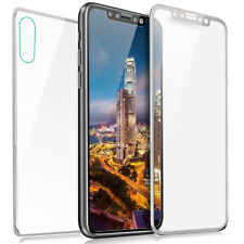 Full Coverage Front and Back Tempered Glass Screen Protector For iPhone X / Xs