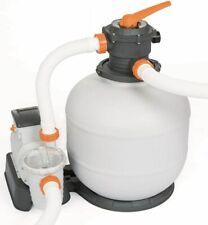 Bestway Flowclear Pompa di Filtraggio a Sabbia per Piscine - Bianco (58499)