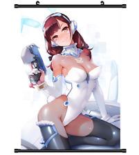 B4340 Overwatch D.VA anime manga Wallscroll Stoffposter 25x35cm
