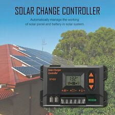 40A Solar Charger Controller Graphical LCD Display Panel Battery Regulator JR GA