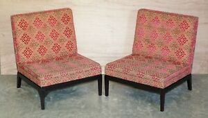 PAIR OF RRP £7,660 GEORGE SMITH NORRIS ARMCHAIRS FOR REUPHOLSTERY PROJECT X2