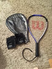Wilsons Ripper Racquetball Titanium Racquet With Case And Gloves, Size Xs- 3 7/8