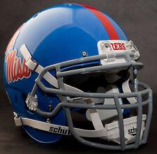 *Custom* Mississippi Ole Miss RebelsSchutt Xp Gameday Replica Football Helmet