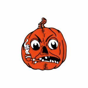 Happy Halloween Funny Orange Pumpkin Smoking Enamel Brooch Pin Jewelry Fashion