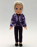 14.5 Inch Doll Clothes Purple Snowflake Pattern Pant