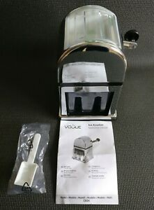 VOGUE Manual Ice Crusher Chrome Effect Excellent Condition Used Once