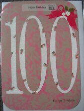 LOVELY FEMALE 100th BIRTHDAY CARD