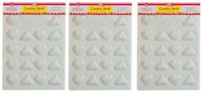 LorAnn Hard Candy Making Mold Set of 3 Hearts White Plastic