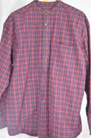 Leevalley Ireland Vintage Collection Small Plaid Tartan Red Men's Shirt