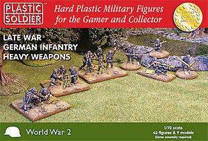 Plastic Soldier Company WW2020005 20mm Late War German Infantry Heavy Weapons