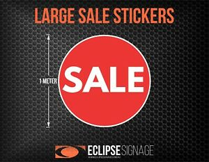 Large Red Promotional Sale Stickers