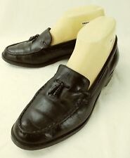 Diana Ferrari Womens Shoes Loafers GOTHIC US 8 M Black Leather Tassels 5711