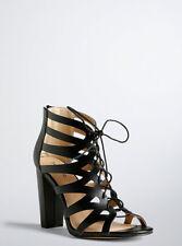Torrid Lace Up Sandals, Black, 10 NO BOX