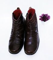 ROMIKA BROWN Leather elastic Zip Ankle Boots Womens Size US 10 - 10.5 EU 41 EUC!