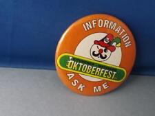 OKTOBERFEST KITCHENER WATERLOO BUTTON VINTAGE RARE ASK ME EMPLOYEE PIN