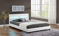 Polsterbett Doppelbett Design mit LED Bettgestell Bettrahmen mit Lattenrost Bett