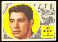 1960 TOPPS CFL FOOTBALL #54 RON DUNDAS EX+ SASKATCHEWAN ROUGHRIDERS REGINA RAMS