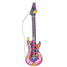 Neuf Hippie Gonflable Guitare 105cm pour Années 1960 70s Déguisement