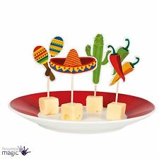 Mexican Chilli Cactus 12 Canape Cocktail Sticks Partyware Party Cake Topper Food