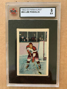 1952-53 Parkhurst #55 Lee Fogolin Chicago Blackhawks **KSA 5 EX**