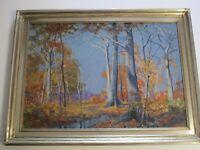 ANTIQUE  Shirley Gordon Barrick  (born 1885) PAINTING OHIO ARTIST LANDSCAPE RARE