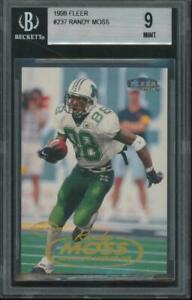 1998 Fleer Tradition #237 Randy Moss RC Rookie Mint BGS 9