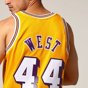 Mitchell & Ness Los Angeles LAKERS 1971-72 JERRY WEST Swingman YELLOW JERSEY Med