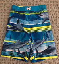 Ocean Pacific (OP) Boys Shark Lined Swim Trunks Board Shorts (Size 8)