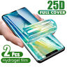 2X Hydrogel Screen Protector Film For Samsung Galaxy S9 S10 Note 8 9 10 Plus CA