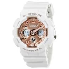 NEW* CASIO UNISEX G SHOCK WHITE ROSE GOLD PASTEL WATCH GMAS-120MF-7A2 RRP£159