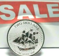 2020  2 Oz Cook Islands BOUNTY Silver Coin  w/capsule (remarkable design)
