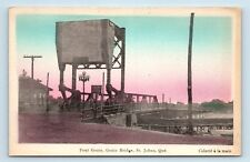 Saint-Jean, Quebec, Canada - PONT GOUIN BRIDGE HANDCOLORED STREET SCENE - PC