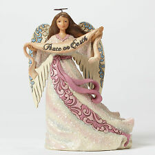 Jim Shore Victorian Angel w/Peace Banner Figurine ~Messenger of Peace~ 4047679
