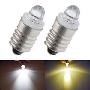 Warm/White 3V 12V E10 LED Bulb Screw Lamp Replacement For Torch Flashlight Light